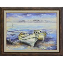 Естел Ангелова - Пейзаж с лодки